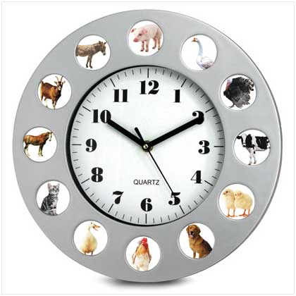 ANIMAL FARM WALL CLOCK