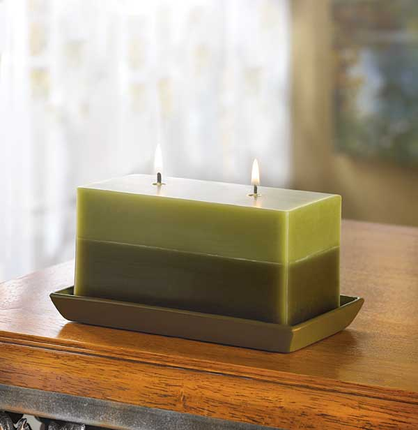 TWO-TONE GREENERY CANDLE